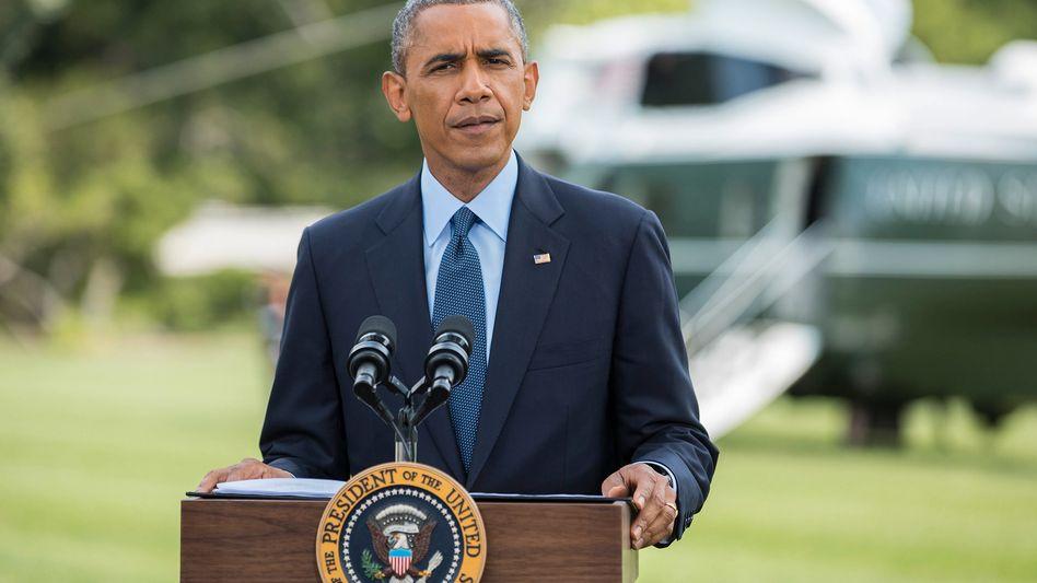 """US-Präsident Barack Obama: """"Wenn Russland seinen bisherigen Weg weitergeht, werden die Kosten für Russland weiter steigen"""""""