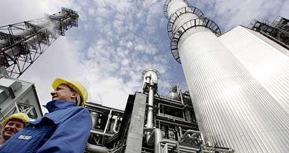 Unter Dampf: Turbinenanlage der BASF im Stammwerk Ludwigshafen