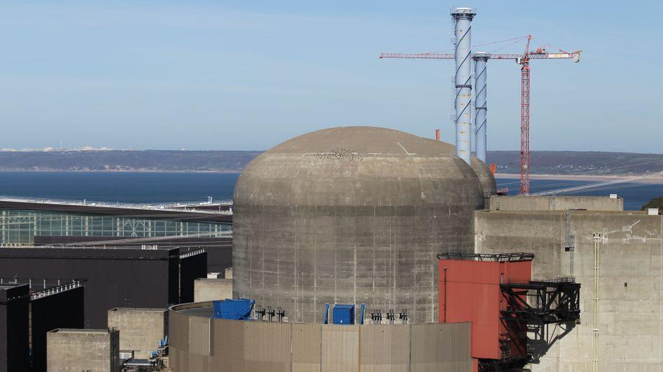 Baustelle des Atomkraftwerks Flamanville in Nordwest-Frankreich