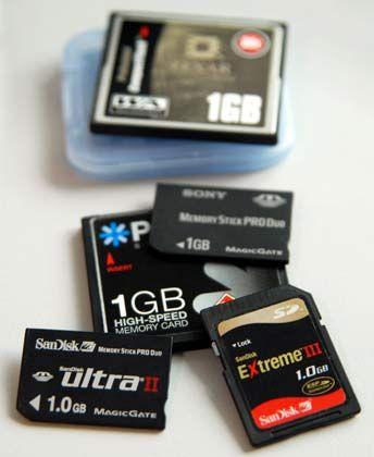 Bilderflut: Die Speicherkarte der Digitalkamera sollte nur ein Übergangsmedium sein