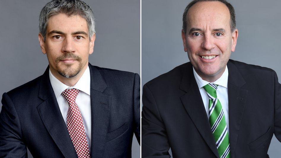 Im Kreuzfeuer: Stada-Vorstandschef Matthias Wiedenfels (links) und Aufsichtsratschef Martin Abend (rechts)