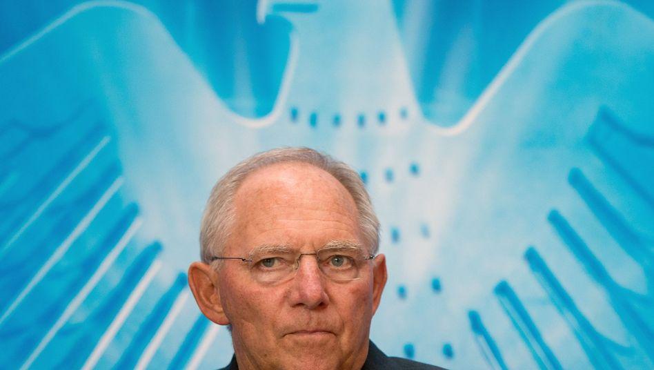 """Bundesfinanzminister Schäuble: Stures Beharrem auf """"dem Programm"""""""