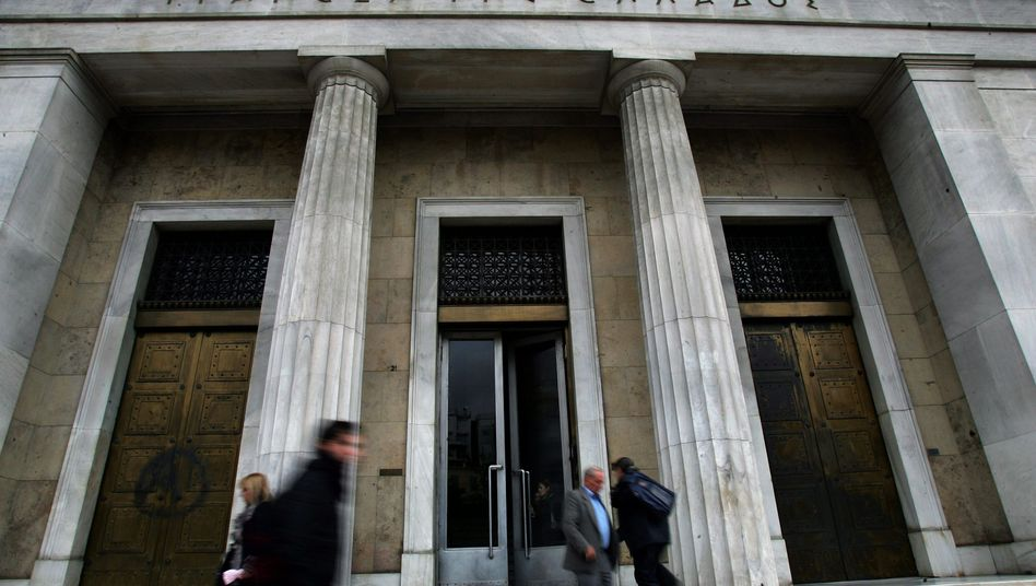 Griechische Zentralbank in Athen: Hellas landet zusammen mit Kolumbien und Dschibuti auf dem 94. Platz der Korruptionsliste