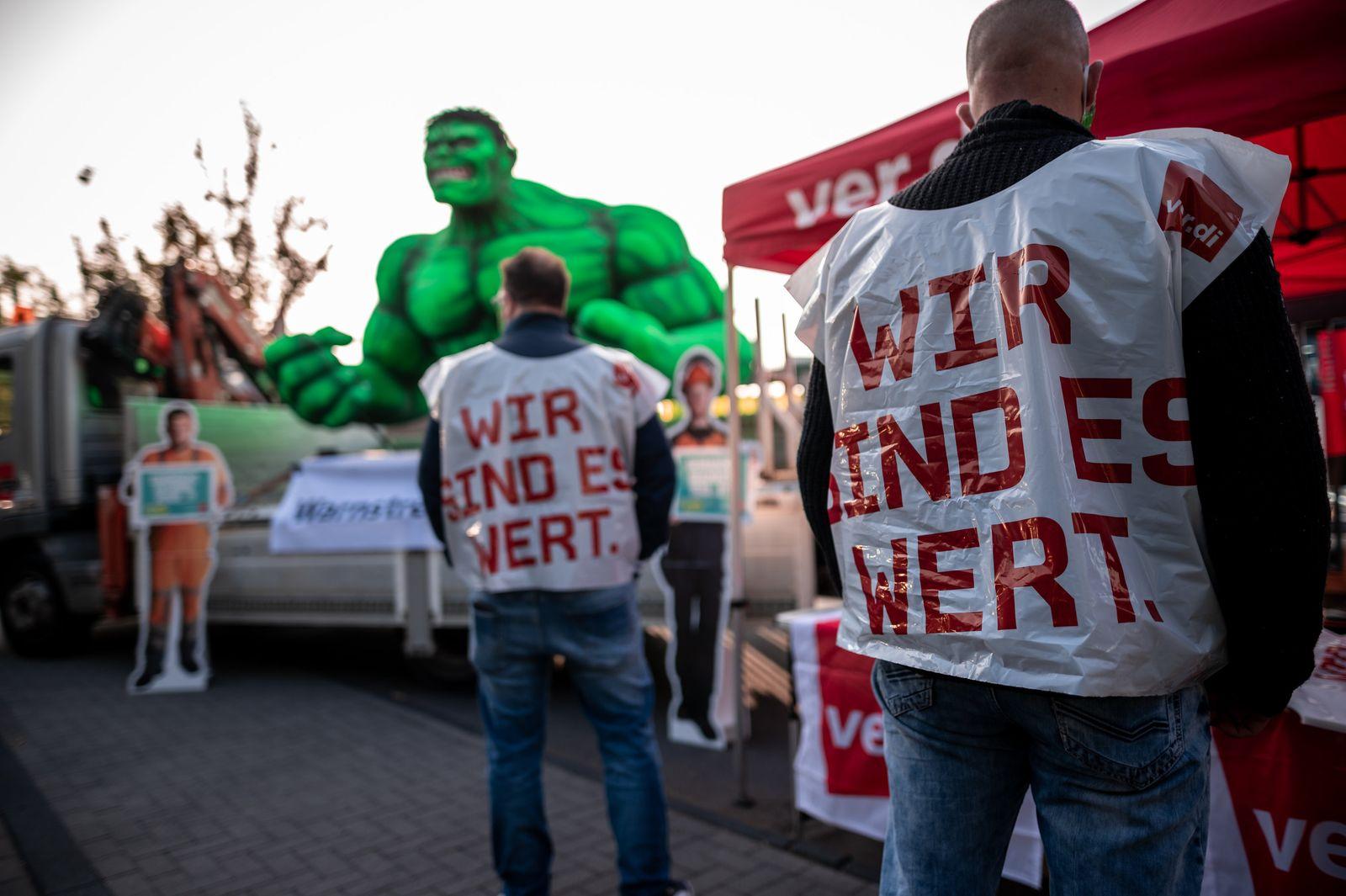 Warnstreiks im öffentlichen Dienst in Nordrhein-Westfalen