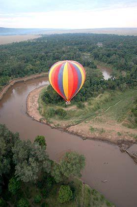 Schwindelfreiheit ist Voraussetzung: Die Ballons sind auf dem Weg