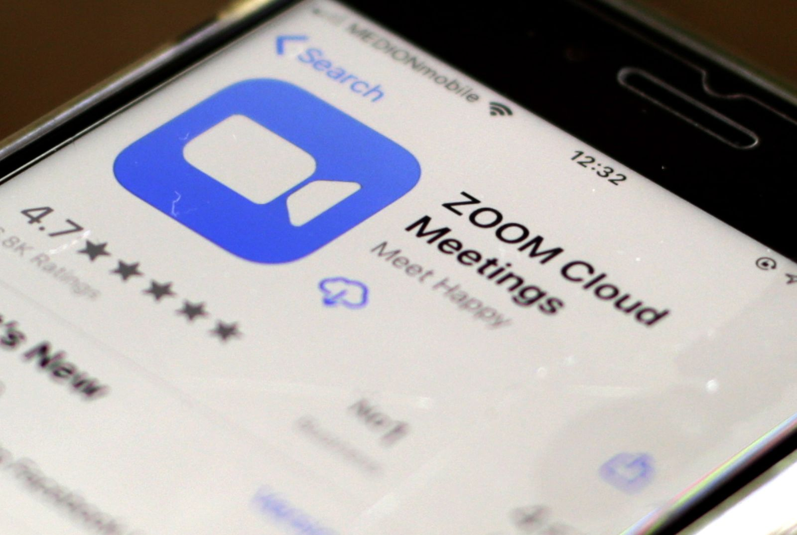 Zoom videoconferencing app sees a rise in users during ongoing novel coronavirus disease COVID-19 pandemic, Oestrich Winkel, Germany - 01 Apr 2020