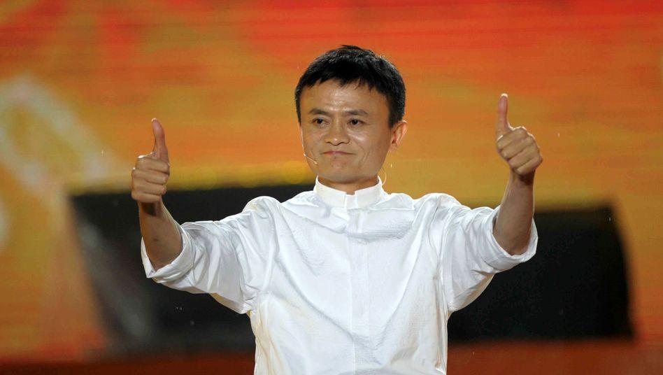 Es läuft: Noch vor einem Jahr feierte Jack Ma mit seiner Handelsplattform Taobao 10-jähriges. Bald dürfte er einen der größten Börsengänge bejubeln