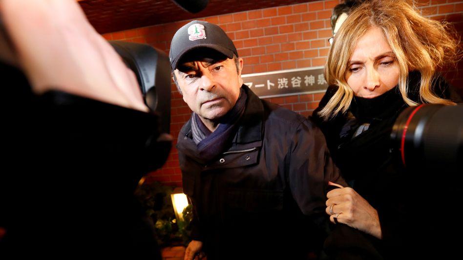 Carlos und Carole Ghosn im März 2019 in Tokio