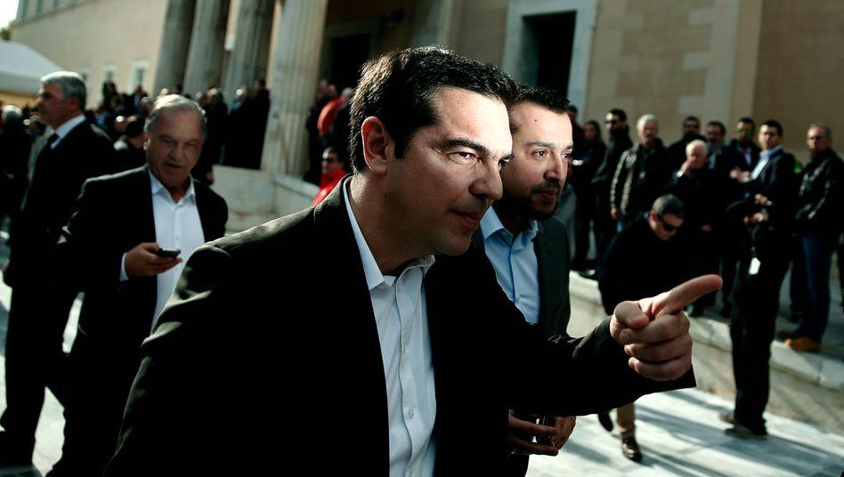 Syriza-Chef Alexis Tsipras: Auf dem Weg zu Verhandlungen?