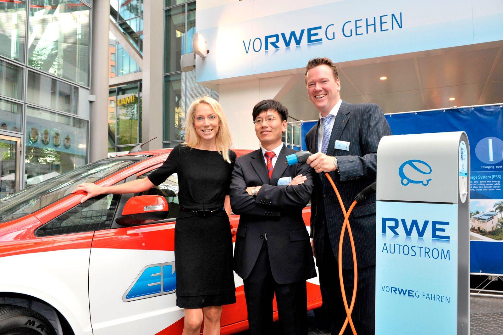 Kooperation der RWE mit den Unternehmen BYD