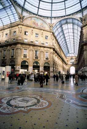 Edles Ambiente: Die Galleria Vittorio Emanuele in Mailand gilt als elegante Fußgängerzone