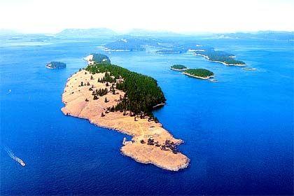 Spiden Island, Washington State, Größe: 2 Millionen Quadratmeter, nicht zu kaufen
