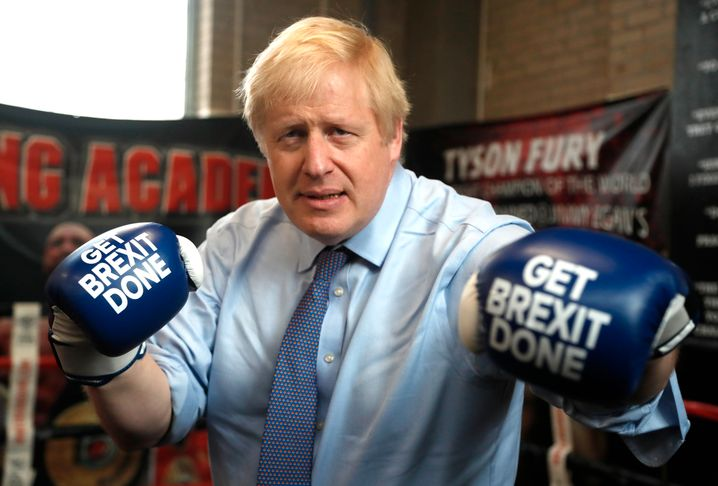 "Boris Johnson im ""Get Brexit done""-Wahlkampf im November 2019"