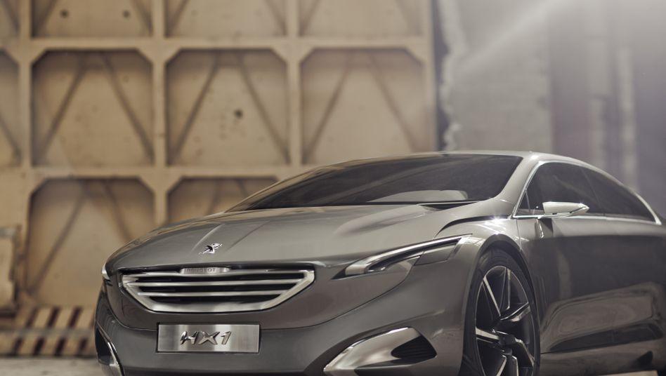 Peugeot-Konzeptauto HX1: Der Autohersteller will in der Oberklasse punkten