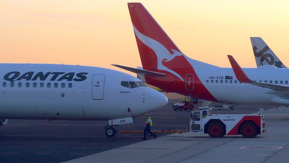 Qantas Airways: Die Regierung in Australien hatte angekündigt, dass internationale Reisen wahrscheinlich erst wieder im kommenden Jahr möglich sein werden.