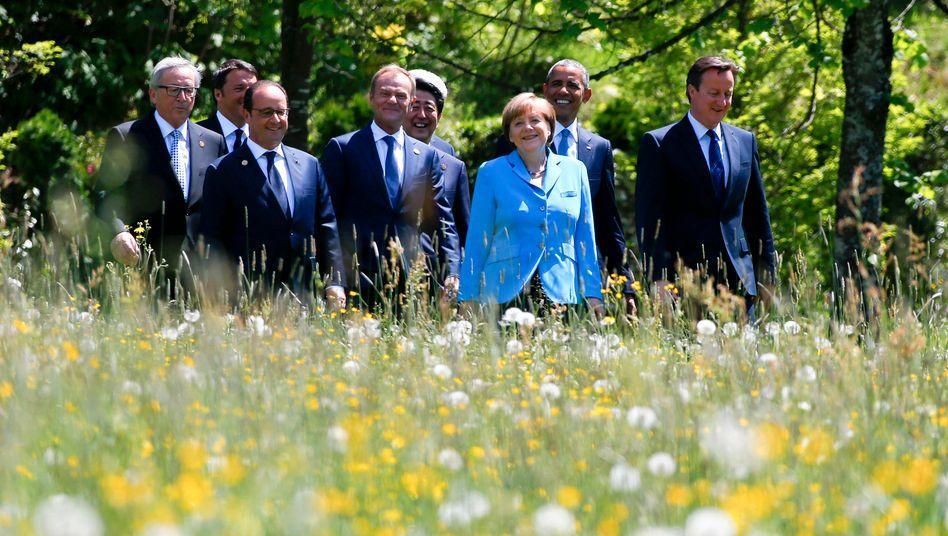 Passende Kulisse für den Klima-Durchbruch: In Elmau beschlossen die G7-Staatslenker den langsamen Ausstieg aus Kohle, Öl und Gas als Rückgrat der Industriegesellschaften