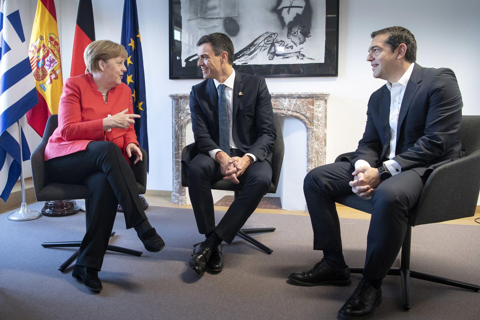 Merkel/ Griechenland Spanien Einigung