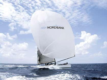 """Bank mit eigener Rennyacht: Die """"HSH Nordbank"""" ist ein 24,25 Meter langer Maxiracer"""