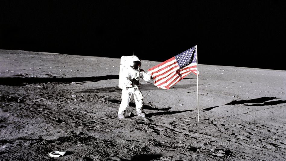 "Astronaut Edwin ""Buzz"" Aldrin am 21. Juli 1969 auf dem Mond: Wird hier bald Helium-3 gefördert?"