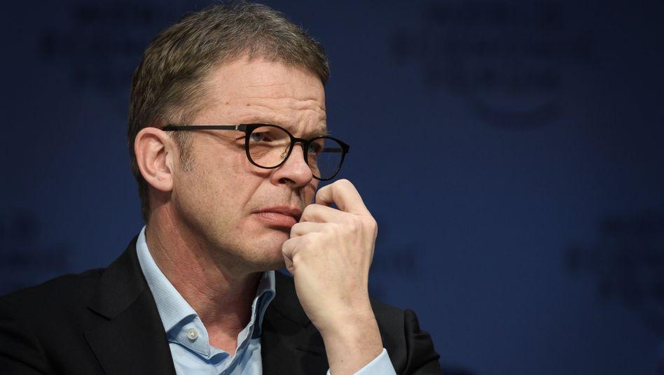 Hat ein hartes Stück Arbeit vor sich: Deutsche-Bank-CEO Sewing beim Weltwirtschaftsforum in Davos.