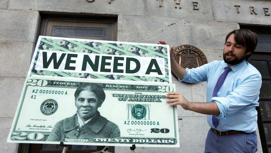 Bislang nur ein Entwurf: Harriet Tubman soll die neuen 20-Dollar-Noten in den USA zieren