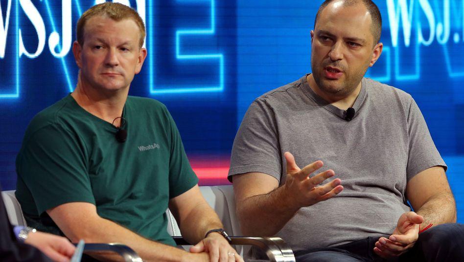 Grundlos Milliarden verschenkt: WhatsApp-Gründer Brian Acton und Jan Koum