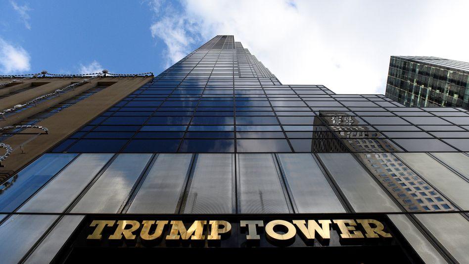 Treffpunkt: der Trump Tower in New York.