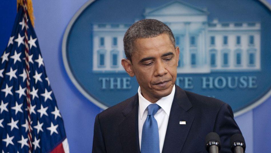 US-Präsident Obama: Er brach am Mittwoch ein Krisentreffen mit den Republikanern ab