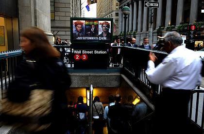U-Bahn-Station Wall Street: Zittern am Tag nach dem Crash