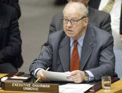 Kritik am US-Vorgehen: UN-Chefinspekteur Hans Blix