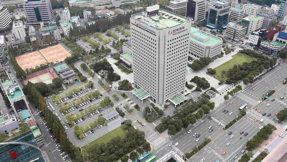 Rechteck des Anstoßes: Für dieses 80.000-Quadratmeter-Grundstück in Seoul zahlt Hyundai fast 8 Milliarden Euro