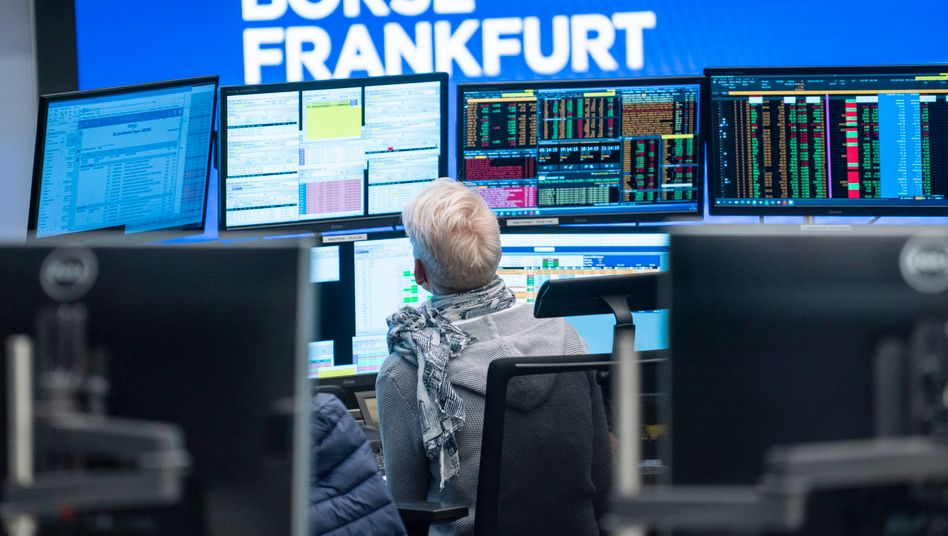 Händlerin an der Deutschen Börse: Die Bullen bleiben obenauf