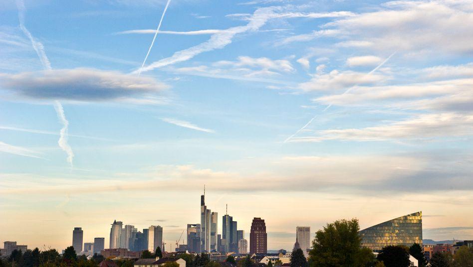 Banken in Frankfurt am Main: Vor allem deutsche Banken sollen die europäische Schuldenkrise mit ausgelöst haben, urteilt eine Studie