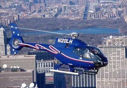 Zur Gewohnheit geworden: Hubschrauber gehören in New York inzwischen zum ganz normalen Verkehrsbild