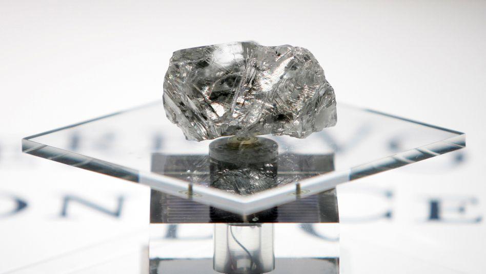 """Teurer Kohlenstoff: Der """"Lesotho-Promise""""-Diamant, 2006 für mehr als 12 Millionen Dollar in Antwerpen verkauft. Die Stadt an der Schelde ist das Zentrum des weltweiten Diamantenhandels"""