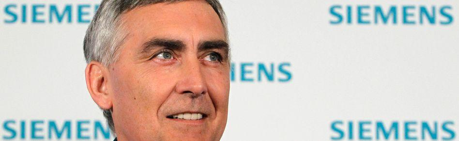 Siemens-Chef Löscher: AR-Vorsteher Cromme ist offenbar zufrieden mit der Arbeit des Österreichers