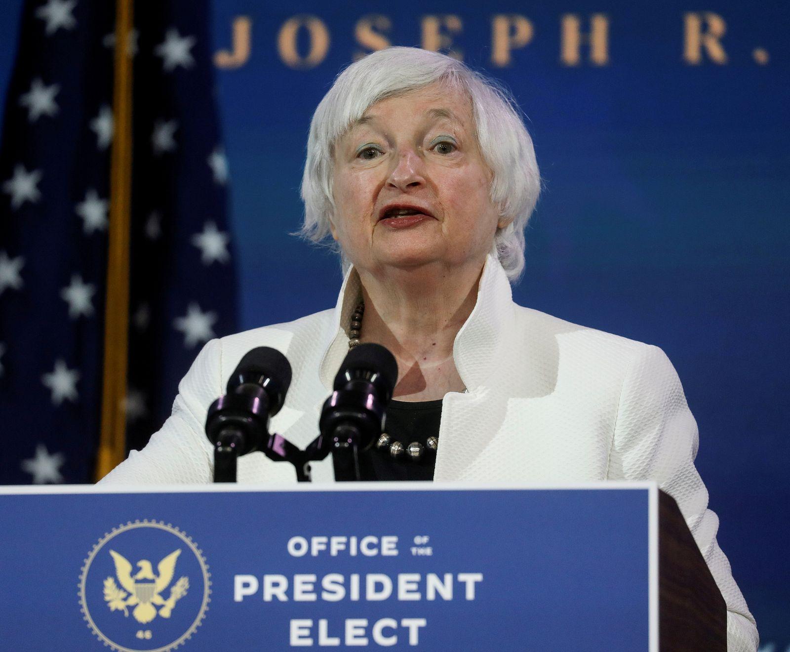 FILE PHOTO: U.S. President-elect Joe Biden announces members of his economic policy team in Wilmington, Delaware