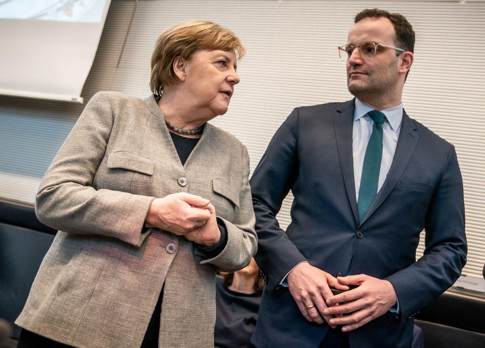Angela Merkel / Jens Spahn / Coronavirus / CDU