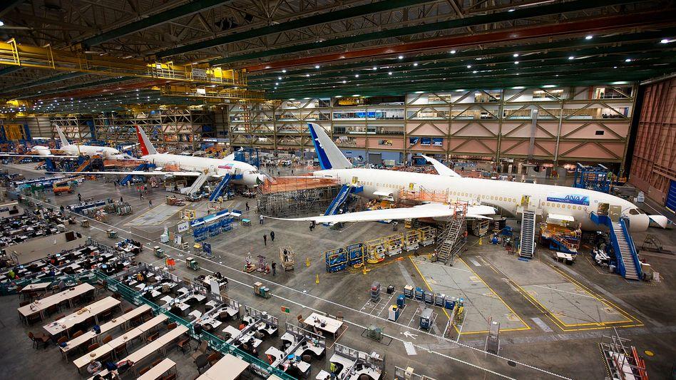 Fertigungsmängel: Montage der 787 im Heimatwerk in Washington