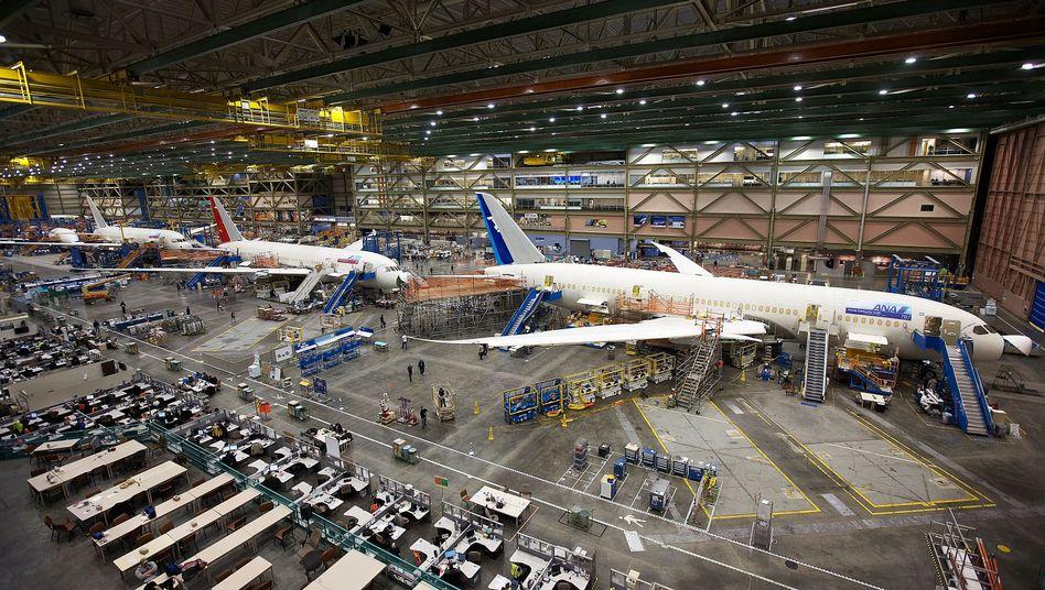 Produktion bei Boeing (Bild Archiv)