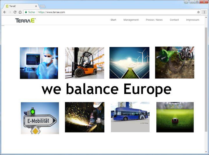 Screenshot der Website von Terra E
