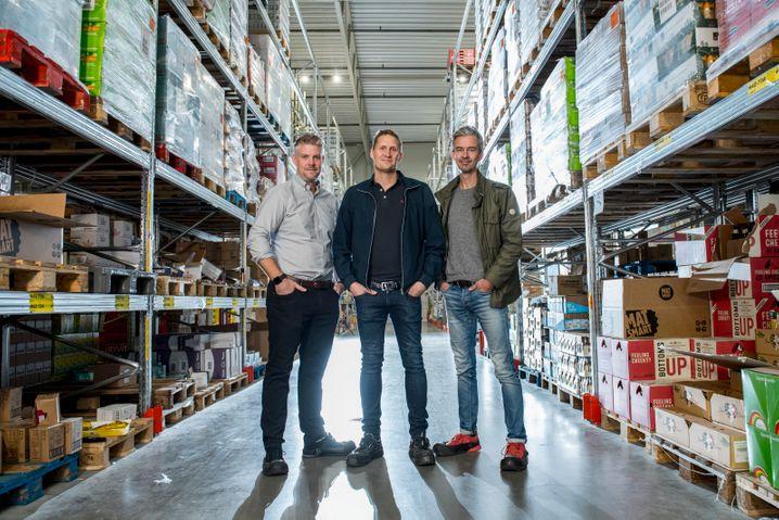 """""""Der Typ, der alles kauft, womit du Probleme hast"""": Karl Andersson (M.) mit seinen Mitgründern"""