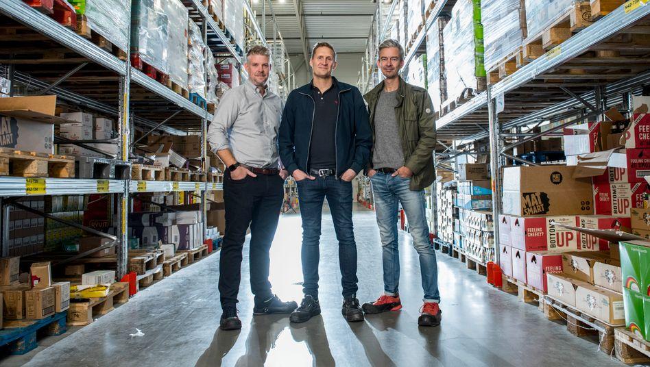 Die Matsmart-Gründer Erik Södergren, Karl Andersson und Ulf Skagerström (v. l.)
