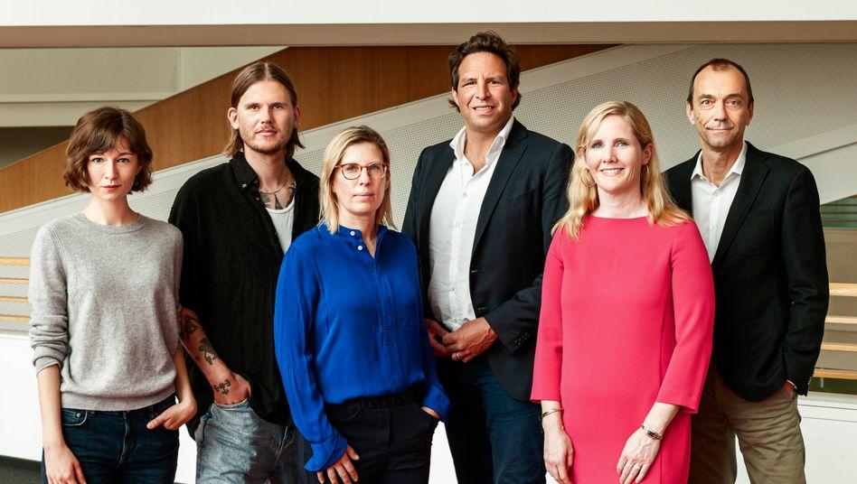 Alexandra Grünig, Aaron Kalitzki, Antonia Götsch, Sven Oliver Clausen, Jennifer Lachman, Martin Noé (v.l.)