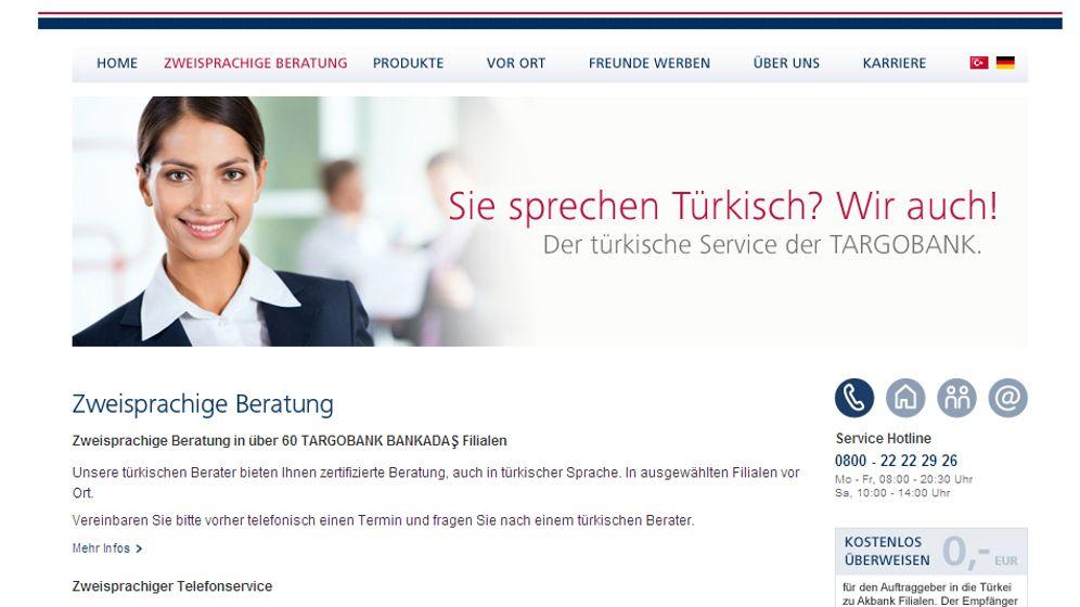 Neue Reklamewelle: Charme-Offensive um türkische Kunden
