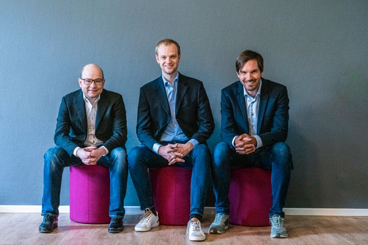 Celonis-Gründer Bastian Nominacher, Alexander Rinke und Martin Klenk (v.l.n.r.): Auftragseingänge im Wert von mehr als 100 Millionen Dollar.