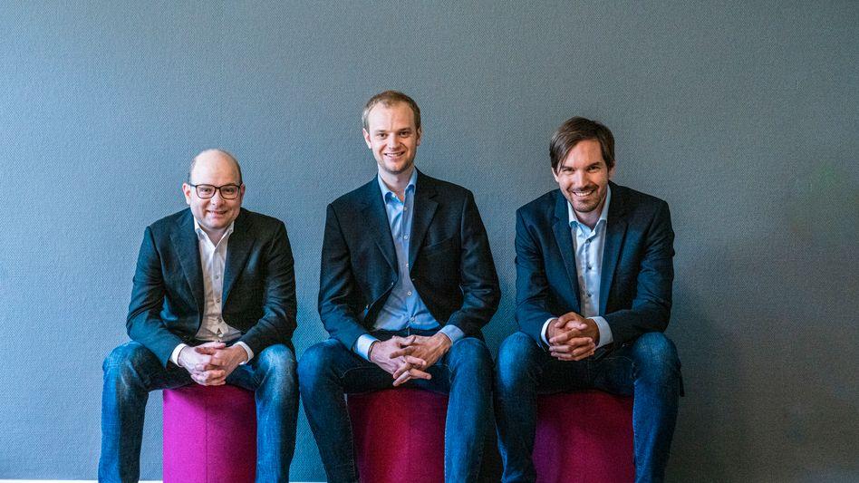 Celonis-Gründer (v.l.n.r.) Bastian Nominacher, Alexander Rinke, Martin Klenk: Nach dem Game Changer Award von mm und Bain erhält Celonis jetzt auch den deutschen Zukunftspreis