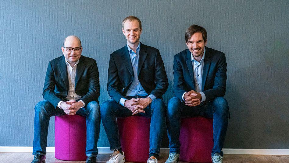 Celonis-Gründer (v.l.n.r.): Bastian Nominacher, Alexander Rinke, Martin Klenk