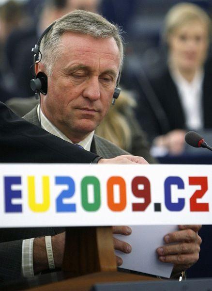 Tschechiens Ministerpräsident Mirek Topolanek: Tschechien könnte nach Irland zum zweiten Stolperstein für die EU-Erweiterung werden