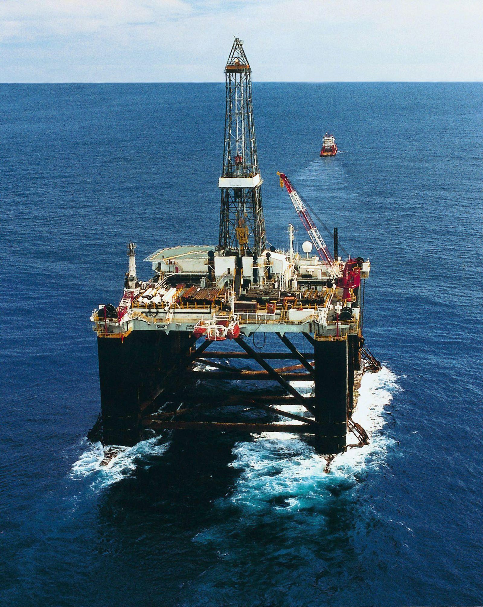 Öl Norwegen/ Bohrinsel / Bohrplattform